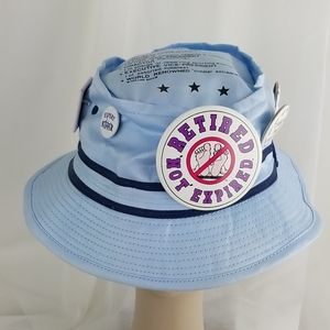 Laid back Retirement hat with cute saying pins